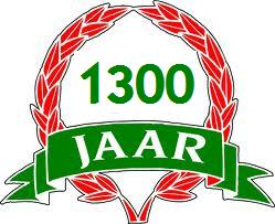 Plaatje jubileum 1300